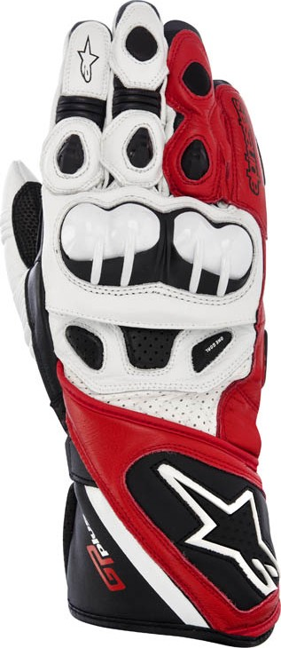 Alpinestars GP Pus leather gloves Black White Red