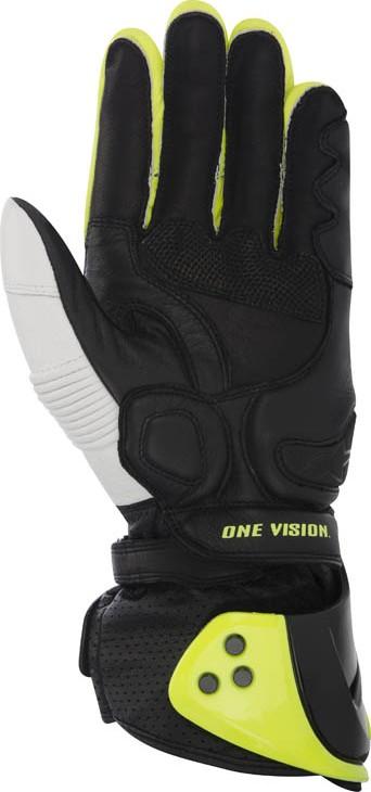 Alpinestars GP Pro leather gloves Black White Yellow