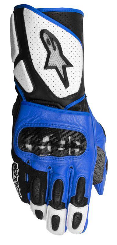 Gloves Alpinestars SP-2 Leather White Black Blue