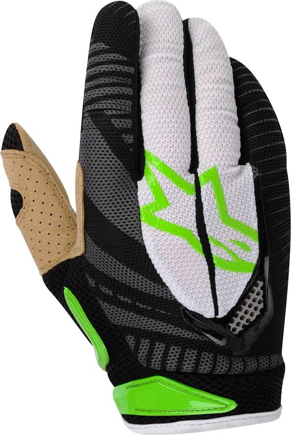 Alpinestars Techstar off-road gloves green-black