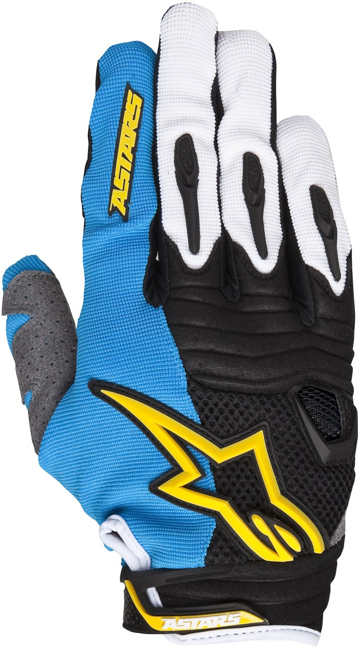 Alpinestars Techstar cross gloves Blue White Yellow