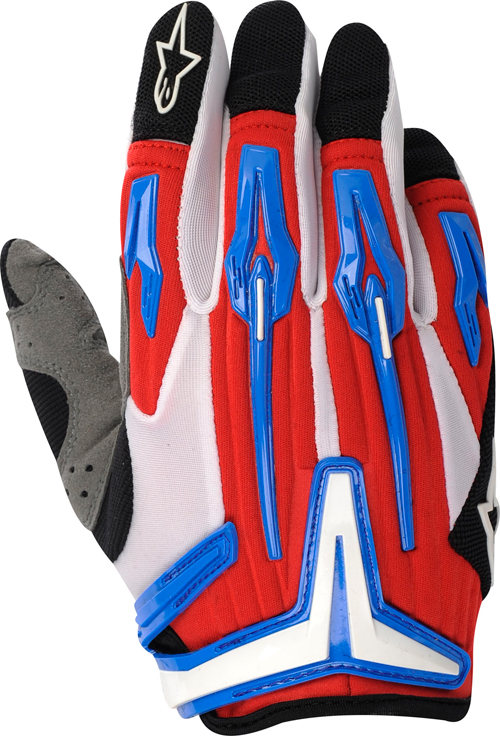 Alpinestars Charger off-road gloves red-cyan-black