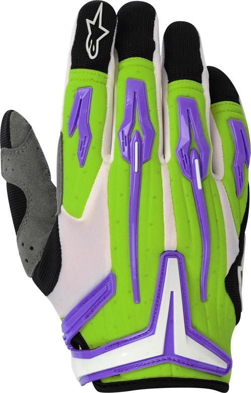 Alpinestars Charger off-road gloves green-violet-black