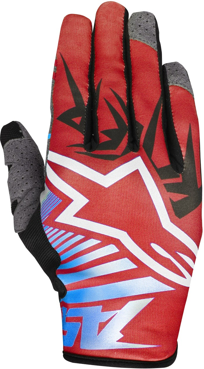 Alpinestars Racer Braap cross gloves Red White Blue