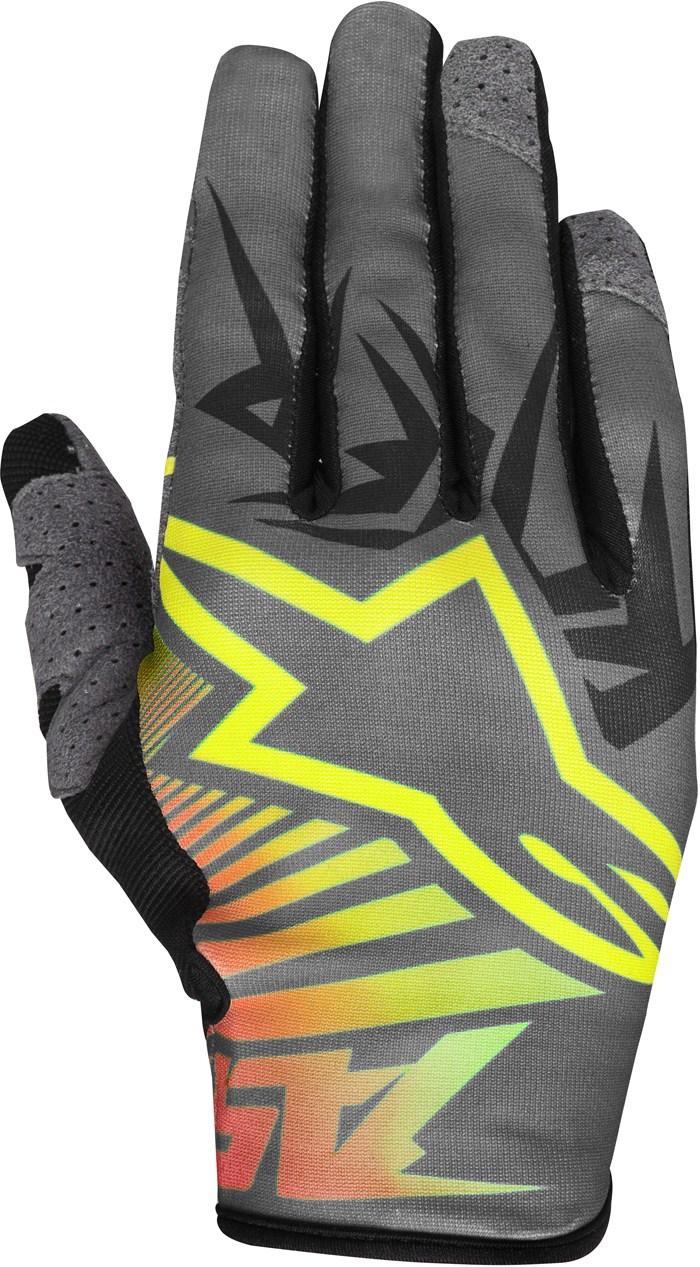 Alpinestars Racer Braap cross gloves Yellow Black Red