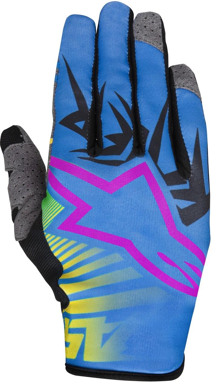 Alpinestars Racer Braap cross gloves Yellow Blue Magenta