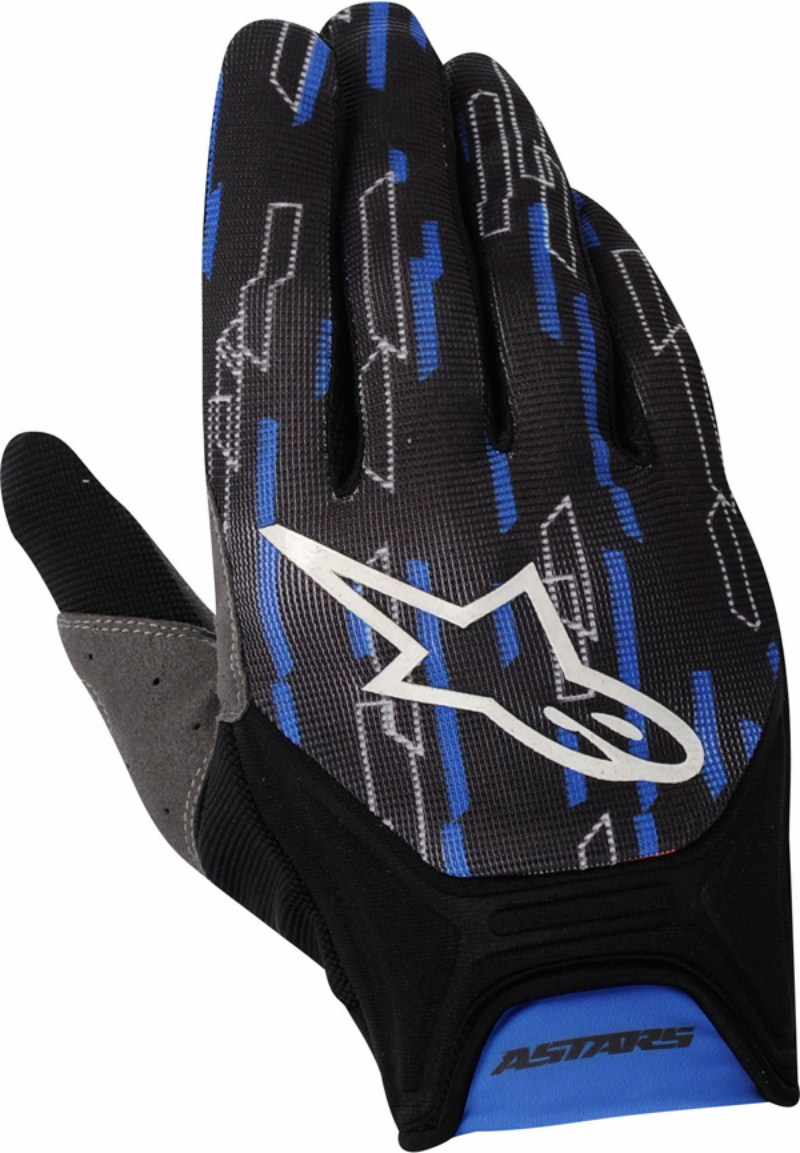 Guanti cross Alpinestars Racer blu-nero