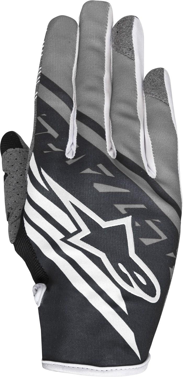 Alpinestars Racer Supermatic cross gloves White Grey