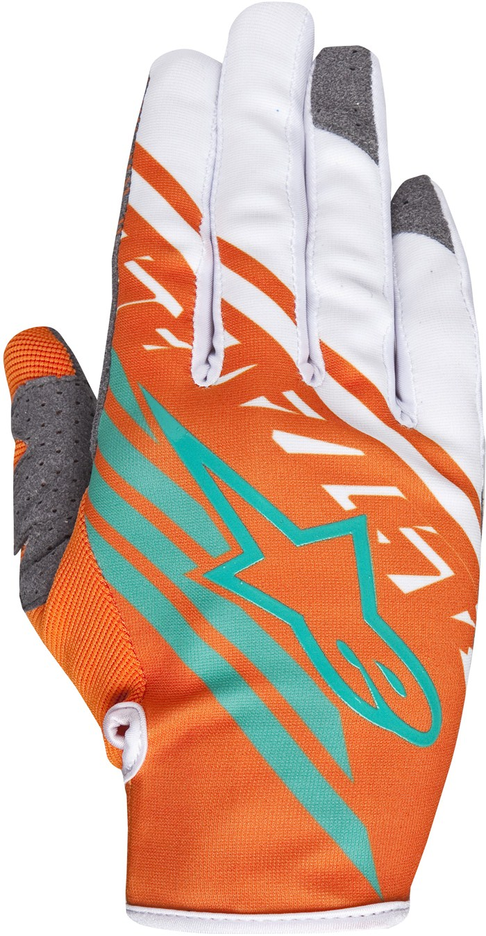 Guanti cross Alpinestars Racer Supermatic Arancio Bianco Teal