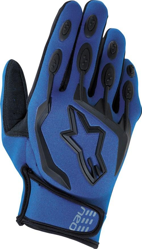 Guanti cross Alpinestars Neo Moto blu