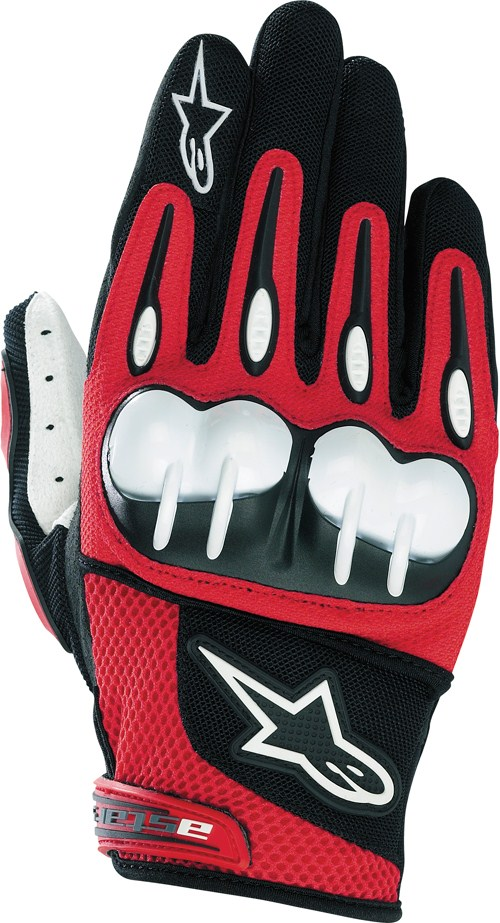 Guanti cross Alpinestars Octane Hard Knuckle rossi