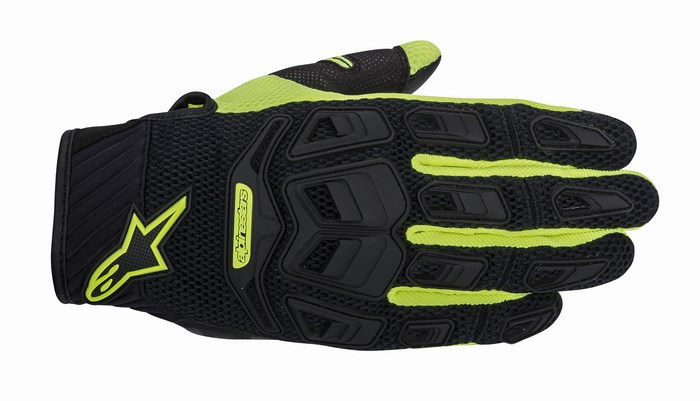 Alpinestars Atacama Air motorcycle gloves black yellow fluo