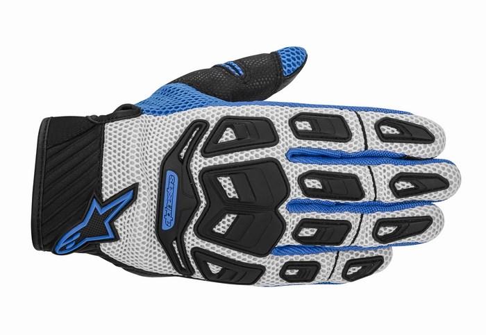 Alpinestars Atacama Air motorcycle gloves grey blue