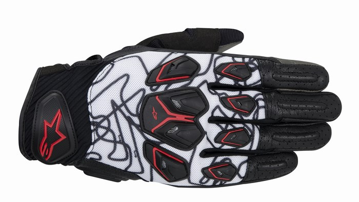 Alpinestars Masai gloves black white red