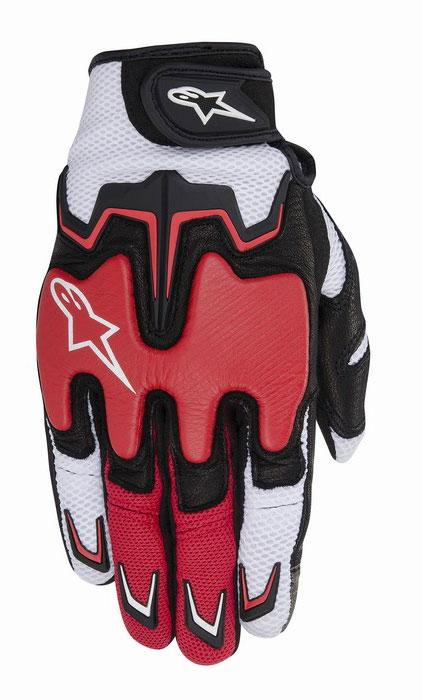 Alpinestars Fighter Air summer gloves White Red Black