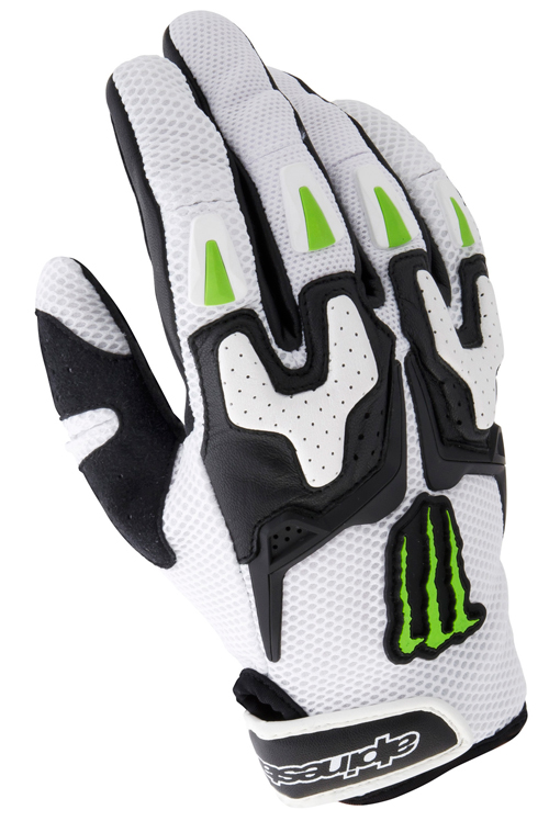 Alpinestars M20 Air Monster leather gloves black-white-green