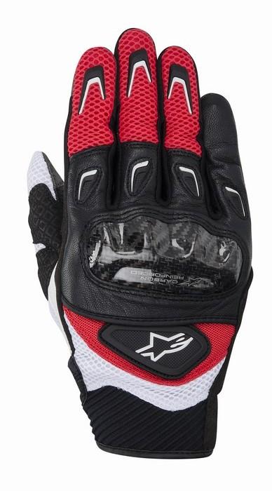 Guanti moto Alpinestars SMX-2 Air Carbon rosso nero