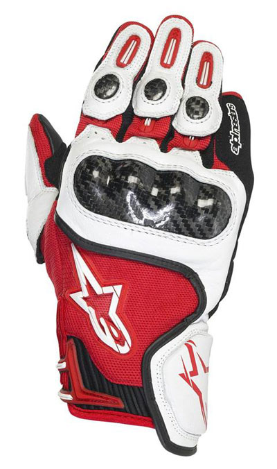 ALPINESTARS SP-X leather gloves col. red