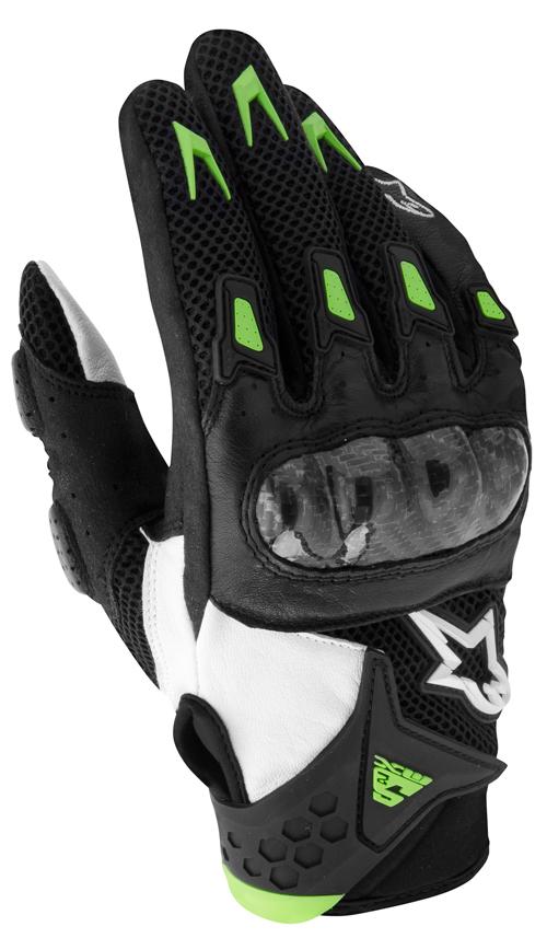 Alpinestars M-10 Air Carbon motorcycle gloves black-green-white