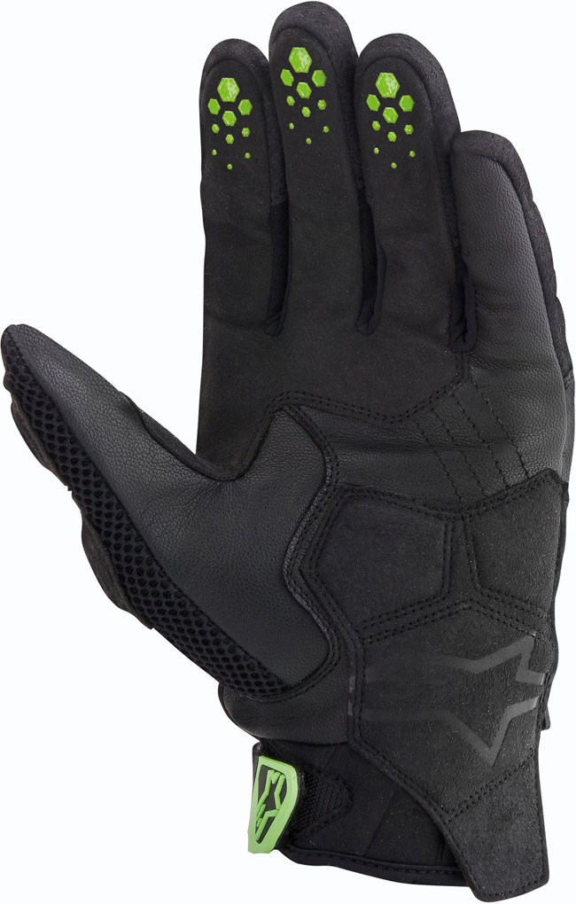 Alpinestars M-10 Air Carbon motorcycle gloves black-green
