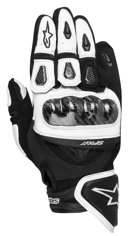 Alpinestars SP-X leather gloves white black