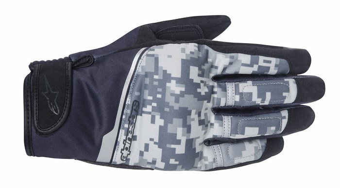 Alpinestars Haku Soft Shell Digiti Gray Camo gloves