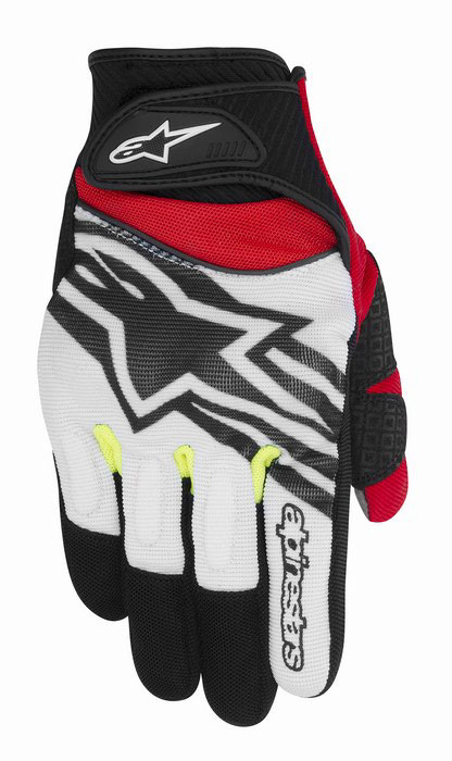 Alpinestars Spartan summer gloves Black White Yellow Red