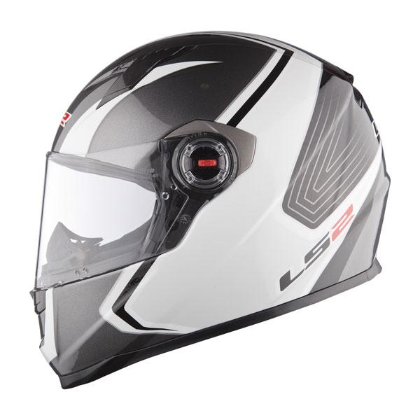 Full face helmet LS2 FF358 Corsa white silver