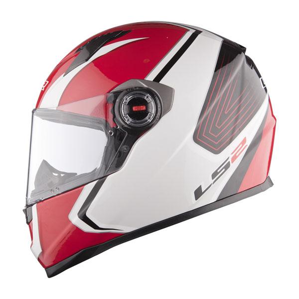 Full face helmet LS2 FF358 Corsa white red