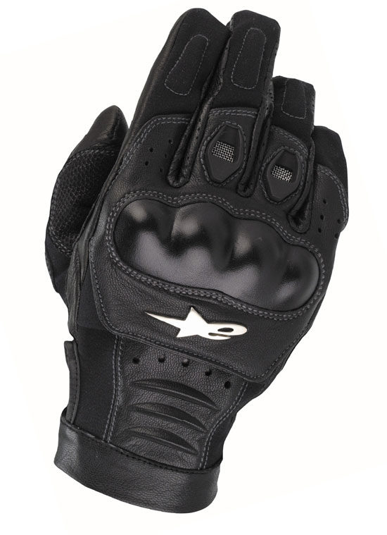 ALPINESTARS Alloy leather gloves col. black