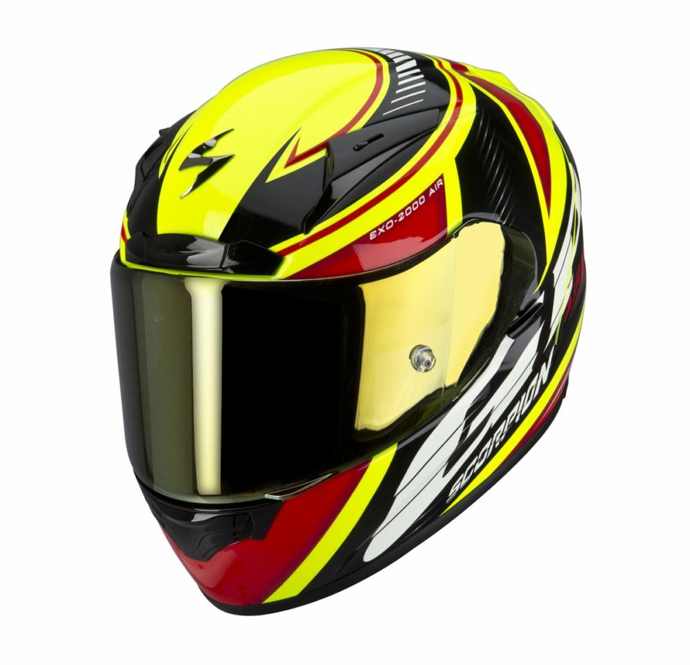 Scorpion Exo 2000 Evo Air Gp Air full face helmet black red yell