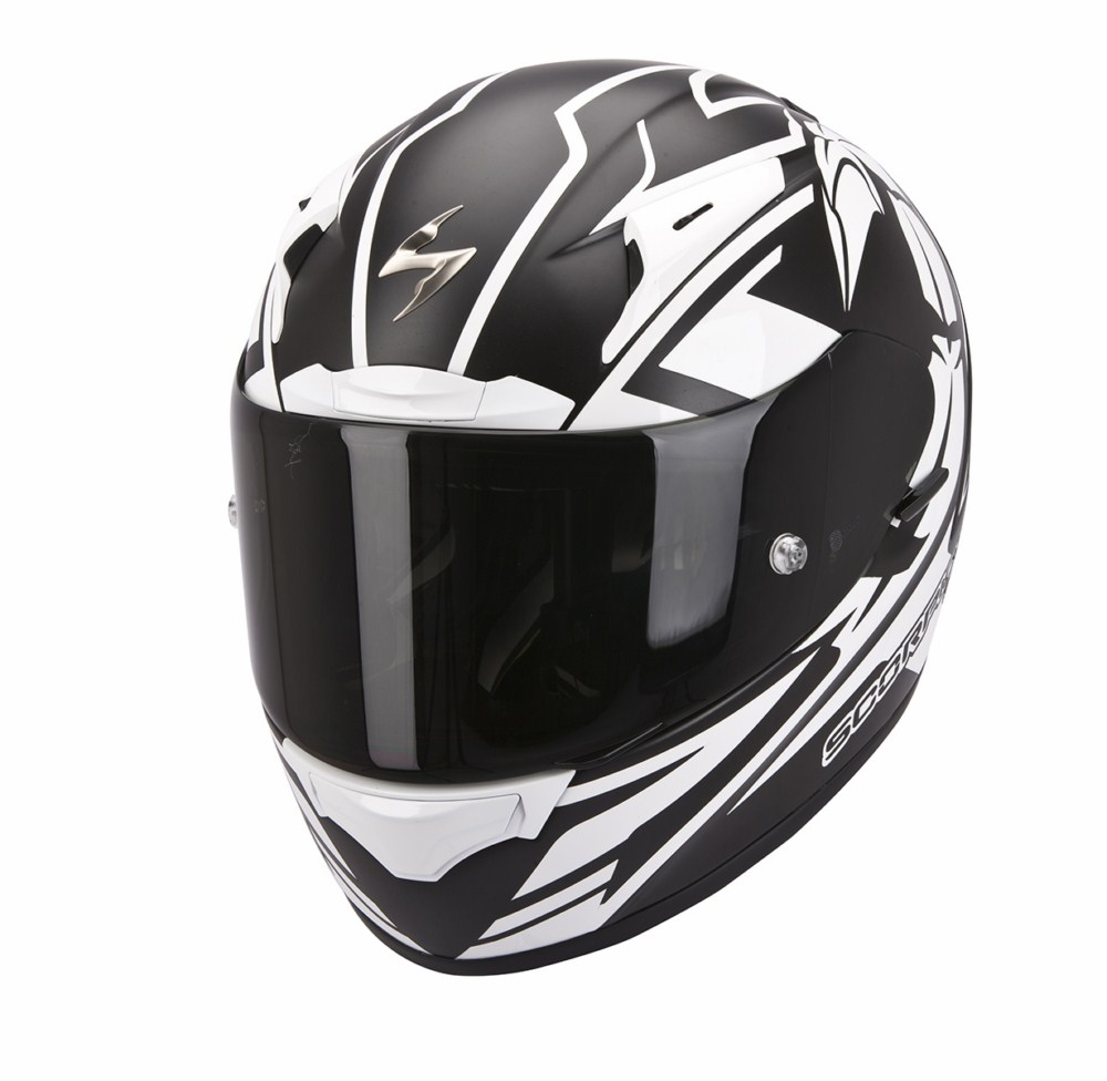 Scorpion Exo 2000 Evo Air Track full face helmet black white