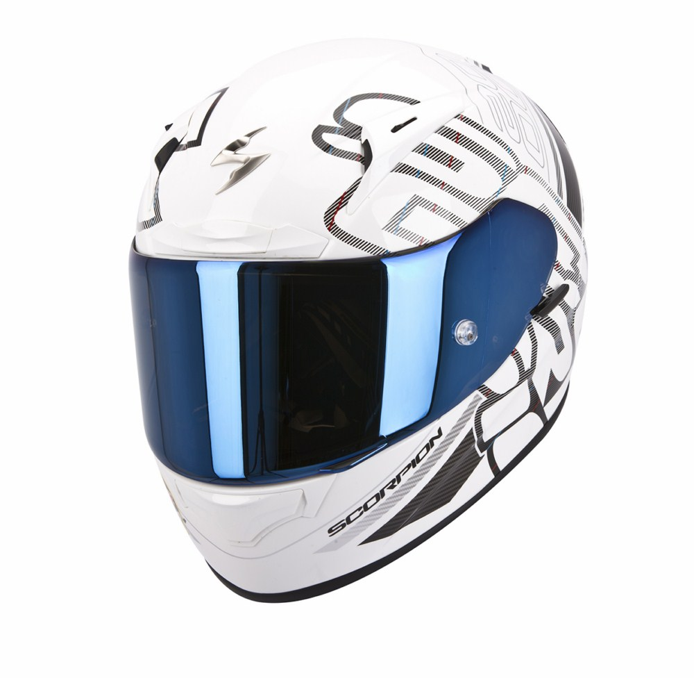 Scorpion Exo 2000 Evo Air Ipsum full face helmet white black