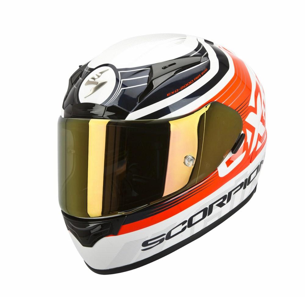 Scorpion Exo 2000 Evo Air Fortis full face helmet white red