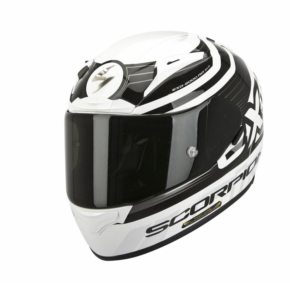 Scorpion Exo 2000 Evo Air Fortis full face helmet black white