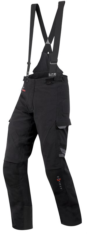 Pantaloni moto Alpienstars Tech Road Armacor Short Gore-Tex Nero