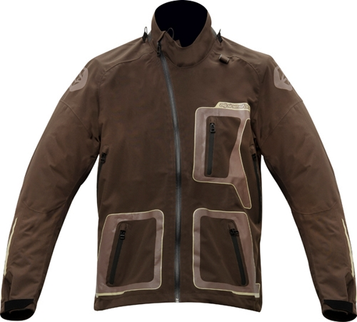 Giacca cross Alpinestars Erzberg Waterproof Bns marrone-sabbia