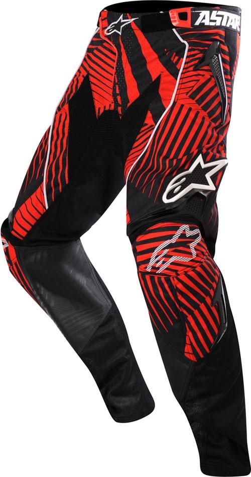 Alpinestars Techstar off-road pants cool grau-red-black