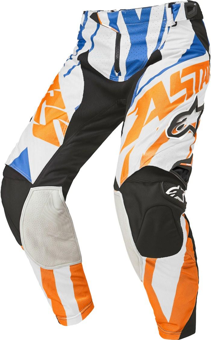 Pantaloni cross Alpinestars Techstar Arancio Bianco Blu