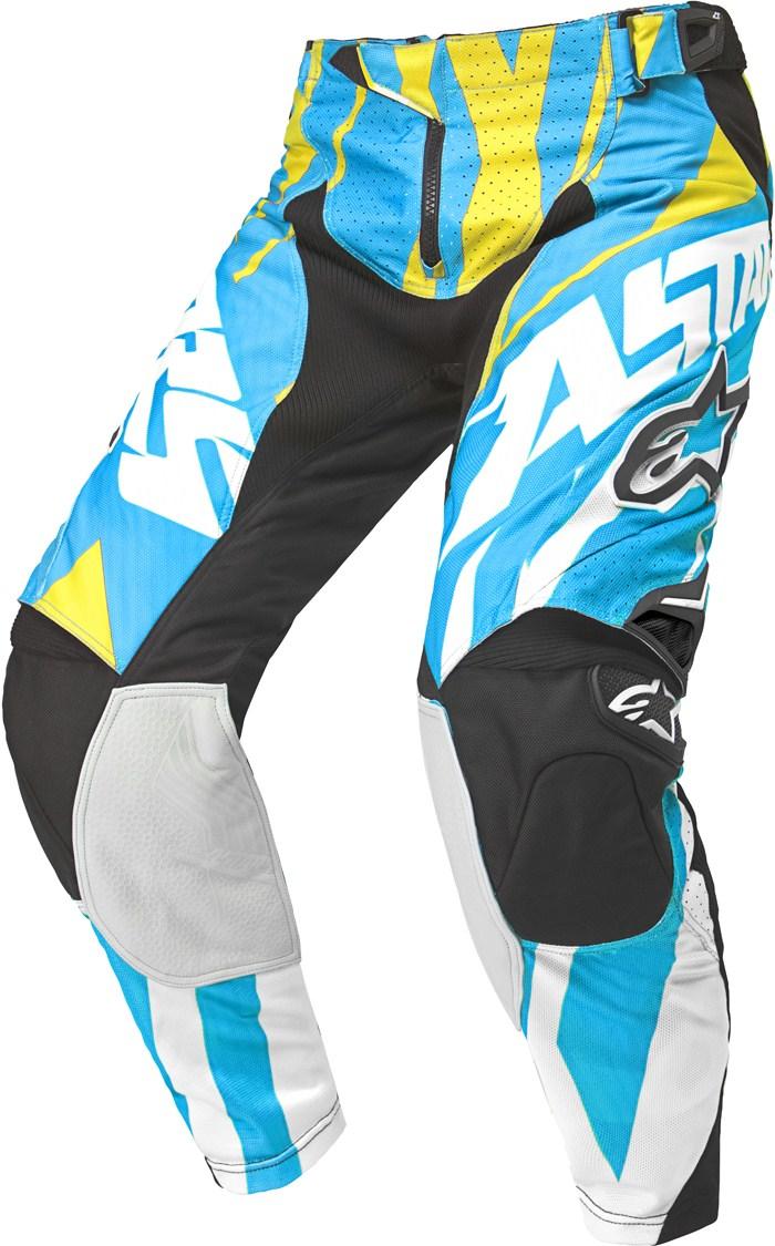 Alpinestars Techstar cross pants Blue Yellow White