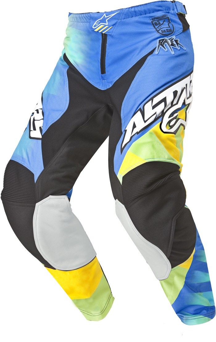 Pantaloni cross Alpinestars Racer Braap Giallo Blu Lime
