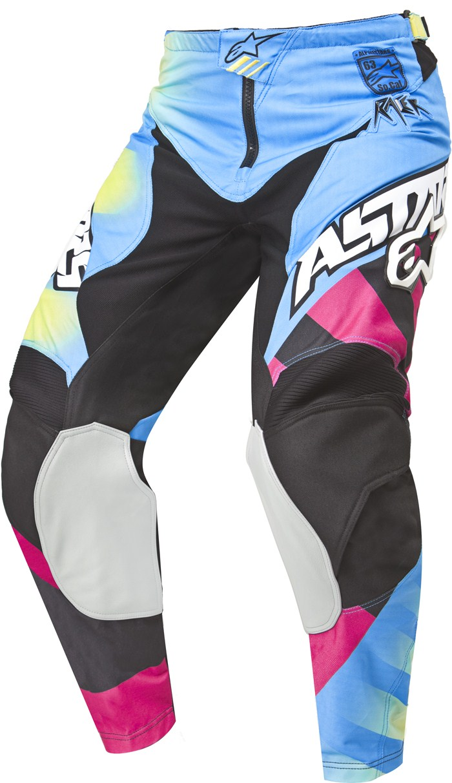 Pantaloni cross Alpinestars Racer Braap Giallo Blu Magenta