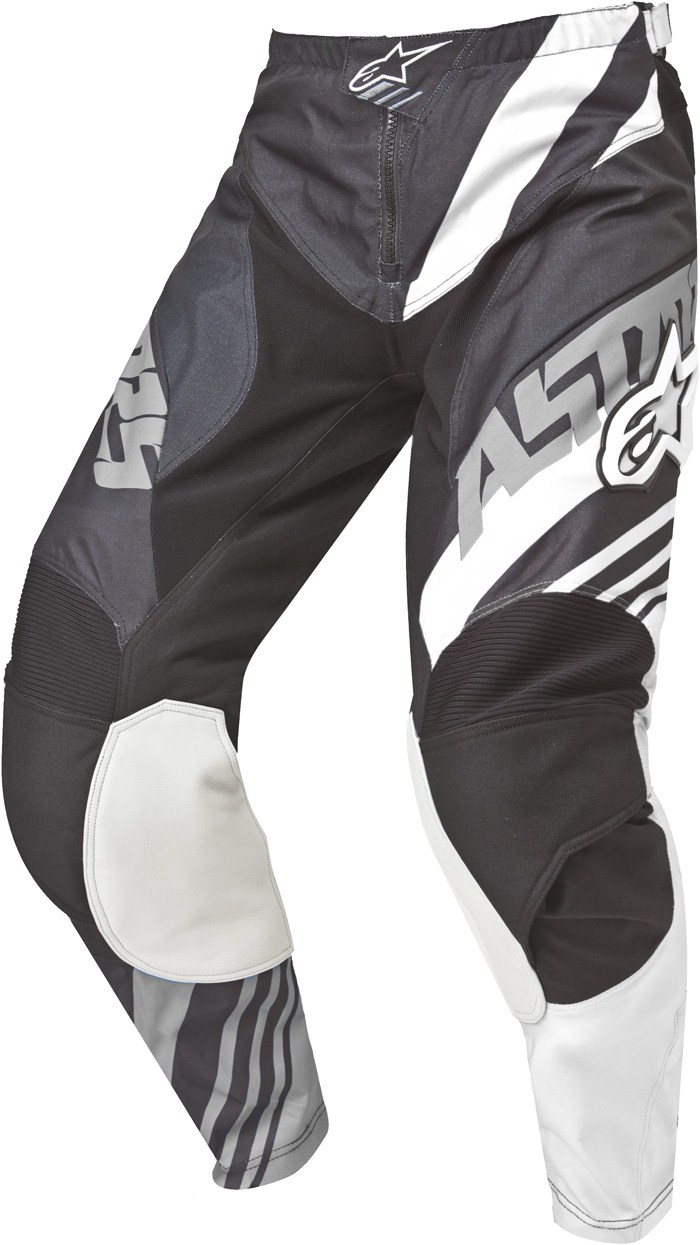 Alpinestars Racer Supermatic pants cross Black White Grey