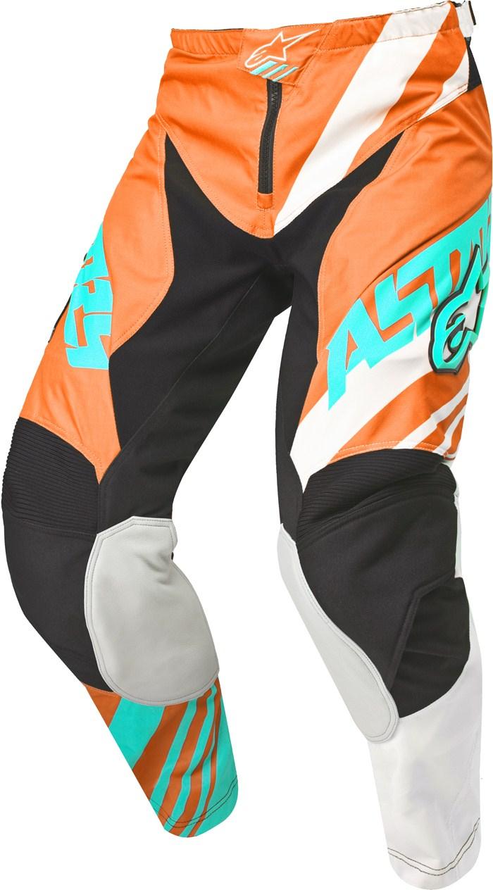 Pantaloni cross Alpinestars Racer Supermatic Arancio Bianco Teal