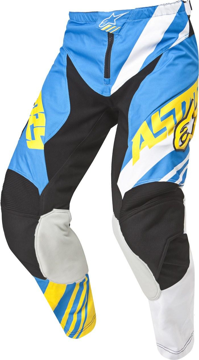 Pantaloni cross Alpinestars Racer Supermatic Blu Bianco Giallo