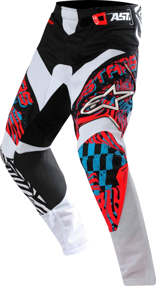 Alpinestars Youth Charger off-road pants red-blue-black