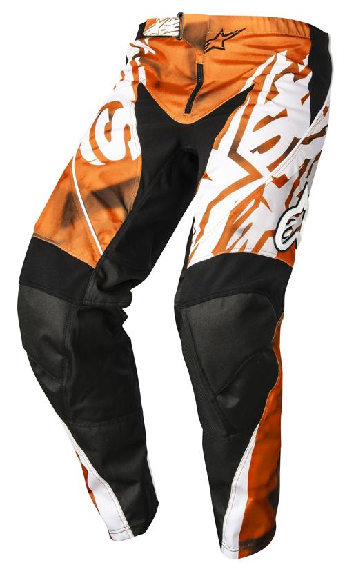 Pantaloni cross bambino Alpinestars Racer Arancio Nero