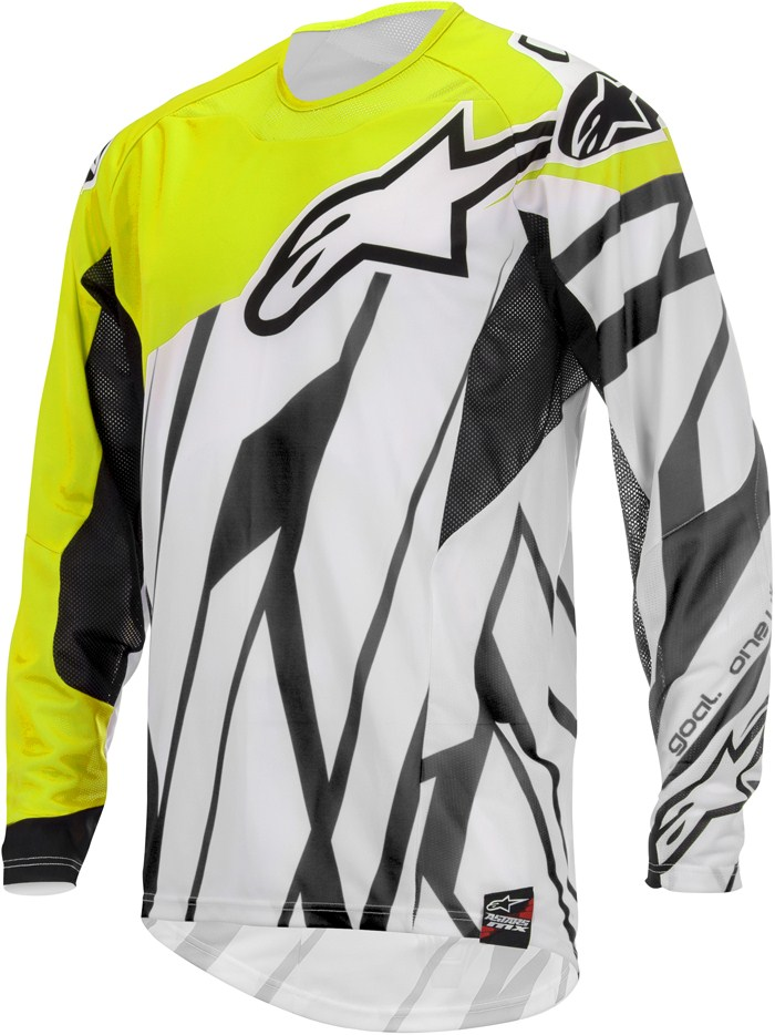 Alpinestars Techstar cross jersey Black White Yellow