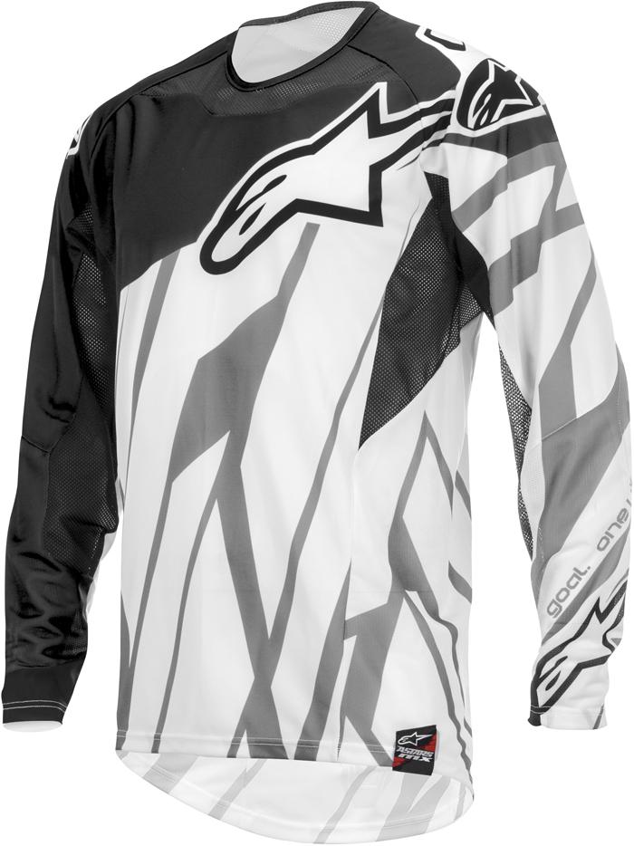 Alpinestars Techstar cross jersey Black White Grey
