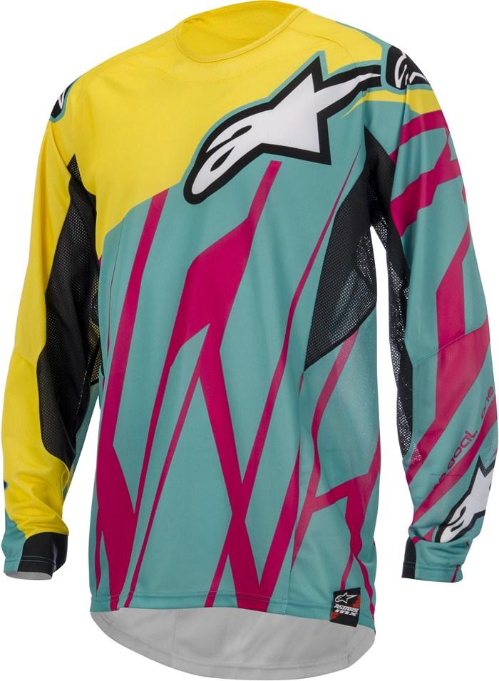 Alpinestars Techstar cross jersey Teal Yellow Magenta